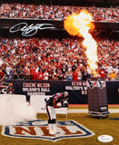 Arian Foster Autographed Texans 8x10 Bow Near Fire Photo- JSA W Authenticated