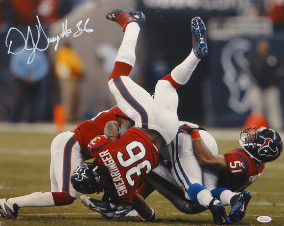 D.J. Swearinger Autographed 16x20 Flip Over Tackle Photo- JSA W Authenticated