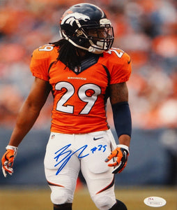 Bradley Roby Autographed Denver Broncos 8x10 Vertical Side View Photo-JSA W Auth