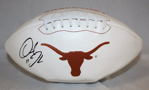 Derrick Johnson Autographed Texas Longhorns Logo Football- JSA W Authenticated