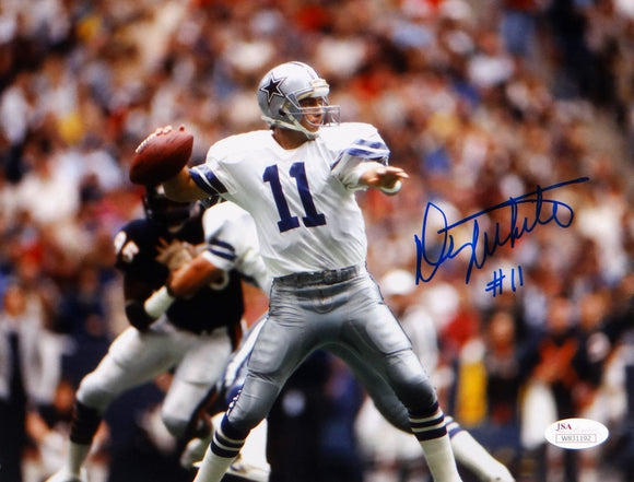 Danny White Signed/ Autographed 8x10 Dallas Cowboys Passing Photo- JSA Auth