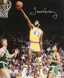 James Worthy Autographed 16x20 Lay Up LA Lakers Photo- JSA Authenticated