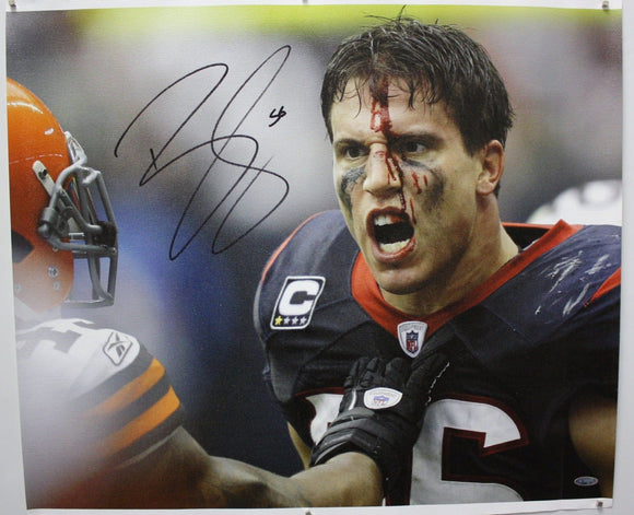 Brian Cushing Autographed 20x24 Bloody Face Canvas- TriStar Authenticated