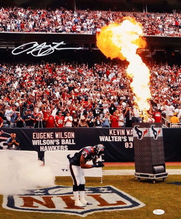 Arian Foster Autographed 16x20 Bow Near Fire Photo- JSA W Authenticated