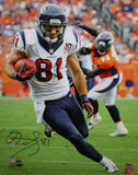 Owen Daniels Autographed 16x20 Vertical On Field Photo- TriStar Authenticated