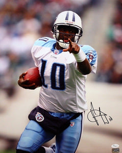 Vince Young Autographed 16x20 Titans Pointing Photo- JSA Authenticated