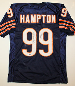 Dan Hampton Signed / Autographed Navy Blue Pro Style Jersey- Mounted Auth