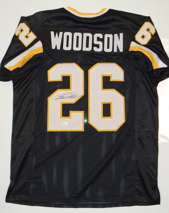 Rod Woodson Autographed Black w/ Old Gold Jersey- JSA W Authenticated