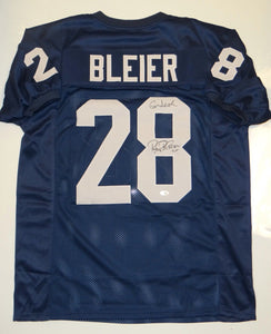 Rocky Bleier Autographed Blue w/ Gold Jersey- JSA W Authenticated