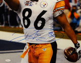 Hines Ward Autographed Steelers 16x20 Cheering Photo- JSA W Authenticated