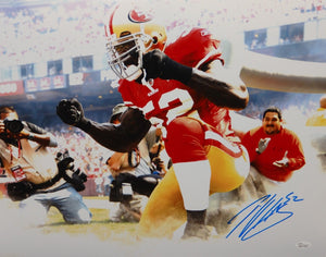Patrick Willis Autographed 16x20 Kneeling In Smoke Photo- JSA W Authenticated
