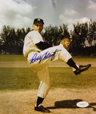 Bobby Shantz Autographed 8x10 Pitching Stance Photo- JSA Authenticated