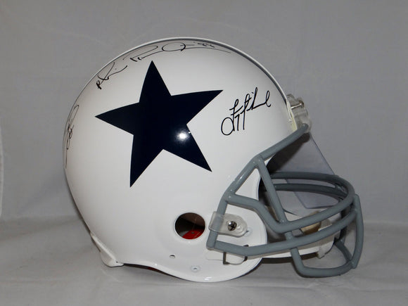 Smith Irvin Aikman Signed Dallas Cowboys F/S TB White ProLine Helmet- JSA Auth
