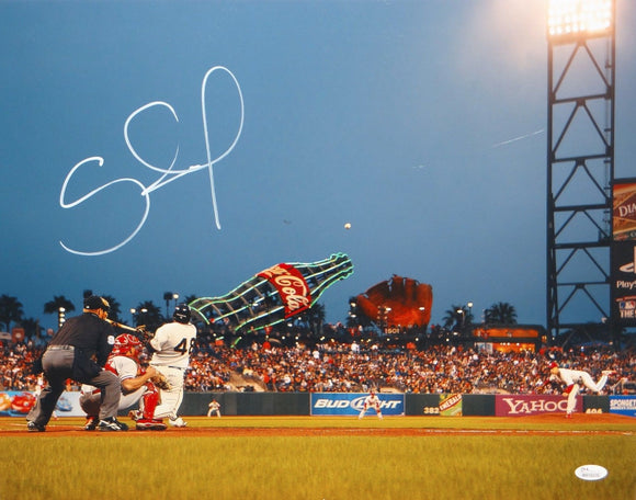 Pablo Sandoval Autographed 16x20 Batting Photo- JSA W Authenticated