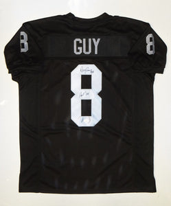 Ray Guy HOF Signed / Autographed Black Pro Style Jersey- JSA W Authenticated