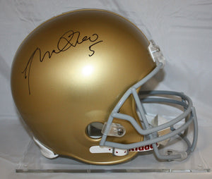 Manti Te'o Autographed F/S Notre Dame Fighting Irish Helmet- JSA Authenticated