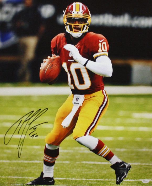 Robert Griffin III Autographed 20x24 Looking To Pass Canvas- JSA W Authenticated