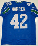 Chris Warren Signed / Autographed Blue Pro Style Jersey- JSA W Authenticated