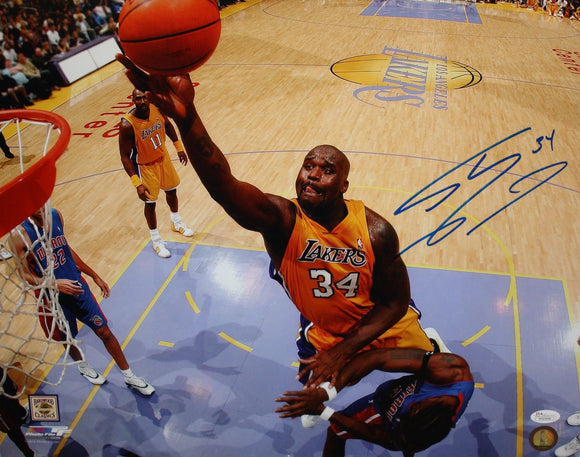 Shaquille O'Neal Autographed 16x20 Lakers Dunking PF Photo- JSA W Authenticated