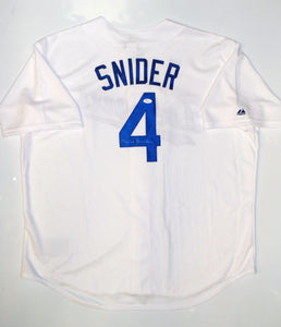 Duke Snider Autographed Los Angeles Dodgers White Majestic Jersey- JSA Auth