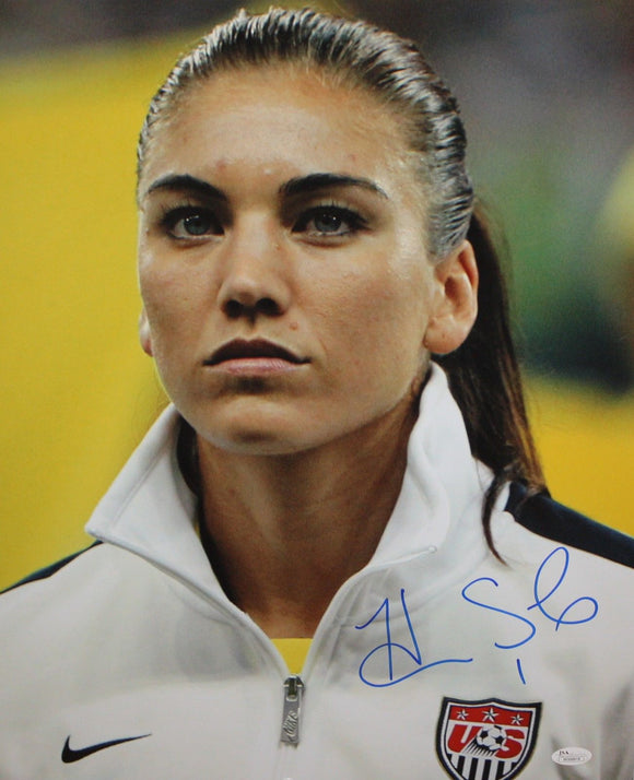 Hope Solo Autographed 16x20 Team USA Close Up Photo- JSA W Authenticated