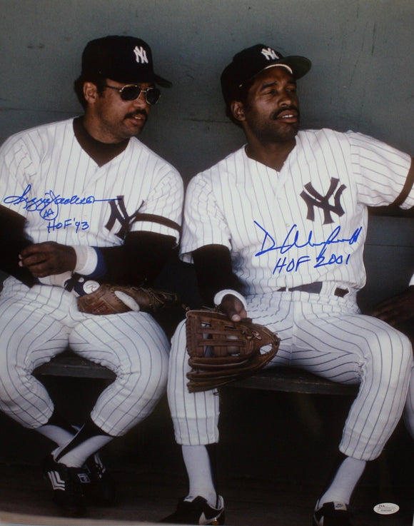 Reggie Jackson & Dave Winfield Autographed 16x20 Photo- JSA W Authenticated
