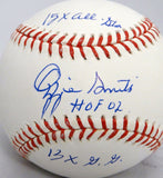 Ozzie Smith 3 Stat Autographed Rawlings OML Baseball- JSA W Authenticated