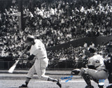 Stan Musial Autographed 16x20 B&W Swinging Photo- JSA Authenticated