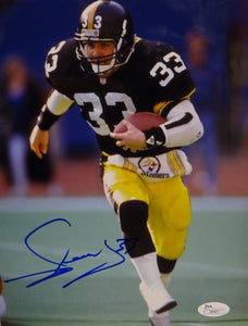Merril Hoge Autographed 8x10 Vertical Running Photo- JSA Authenticated