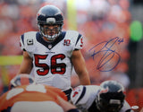 Brian Cushing Autographed 16x20 Front View On Field Photo- JSA W Authenticated