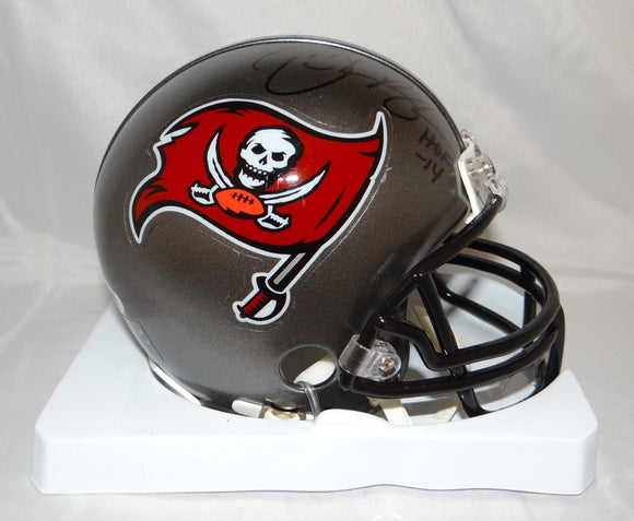 Derrick Brooks Autographed Tampa Bay Buccaneers Grey Mini Helmet- PSA/DNA Auth
