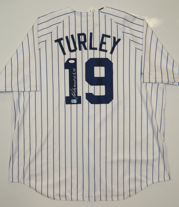 Bob Turley Autographed P/S New York Yankees Jersey- JSA Authenticated