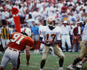 Charlie Ward Autographed 16x20 Looking To Pass Photo- JSA Authenticated