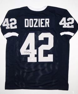 D. J. Dozier Signed / Autographed Navy Blue Jersey- JSA W Authenticated