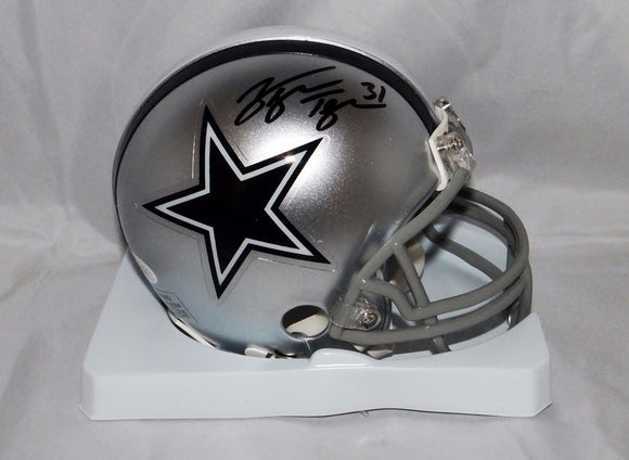 George Teague Autographed Dallas Cowboys Mini Helmet- JSA Witnessed Auth