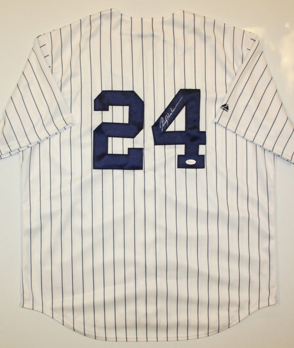 Rickey Henderson Autographed P/S New York Yankees Jersey- JSA W Authenticated