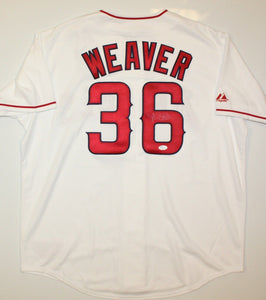 Jered Weaver Autographed White Los Angeles Angels Jersey- JSA W Authenticated
