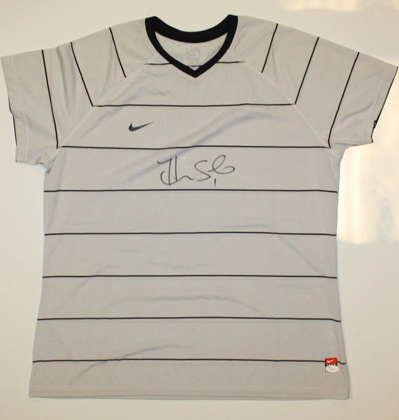 Hope Solo Autographed Nike Dri-Fit Grey Soccer Jersey- JSA W Authenticated