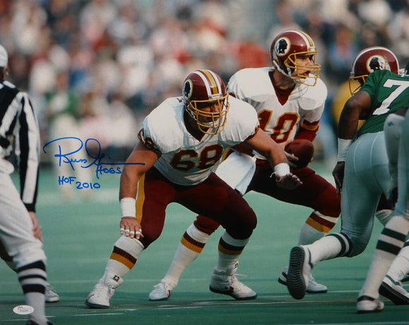 Russ Grimm Autographed 16x20 Horizontal On Field Photo- JSA W Authenticated