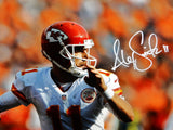 Alex Smith Autographed Kansas 16x20 About To Throw Photo- JSA W Authenticated