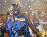 Shaquille O'Neal Autographed 16x20 LA Lakers Champagne Shower Photo- JSA Auth
