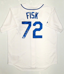 Carlton Fisk Autographed Chicago White Sox Jersey- JSA W Authenticated *7