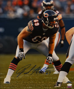Jared Allen Autographed Bears 16x20 Defensive Stance Photo- JSA Authenticated