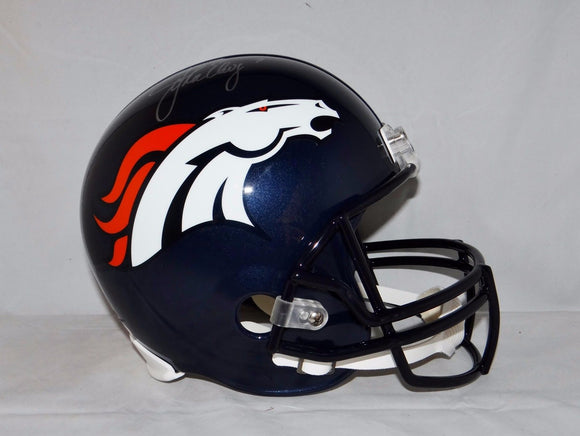 John Elway Autographed F/S Denver Broncos Helmet- JSA W Authenticated