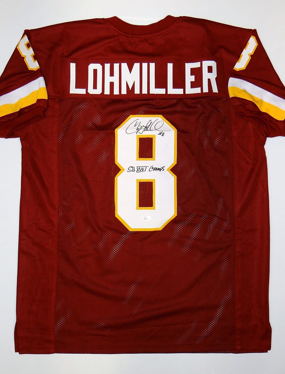 Chip Lohmiller Signed / Autographed Maroon Pro Style Jersey- JSA W Authenticated