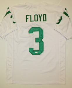 Michael Floyd Autographed White w/Green Jersey- JSA W Authenticated
