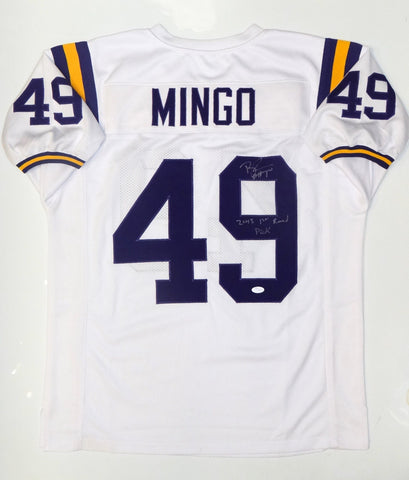 Barkevious Mingo Signed White College Style Jersey w/ 1st Round Pick- JSA Auth