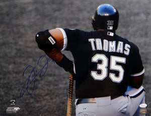 Frank Thomas Signed White Sox 16x20 BW & Color From Behind Photo- JSA W Auth