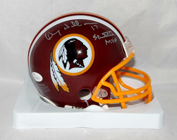 Doug Williams Autographed Washington Redskins Mini Helmet W/ SB MVP- JSA W Auth