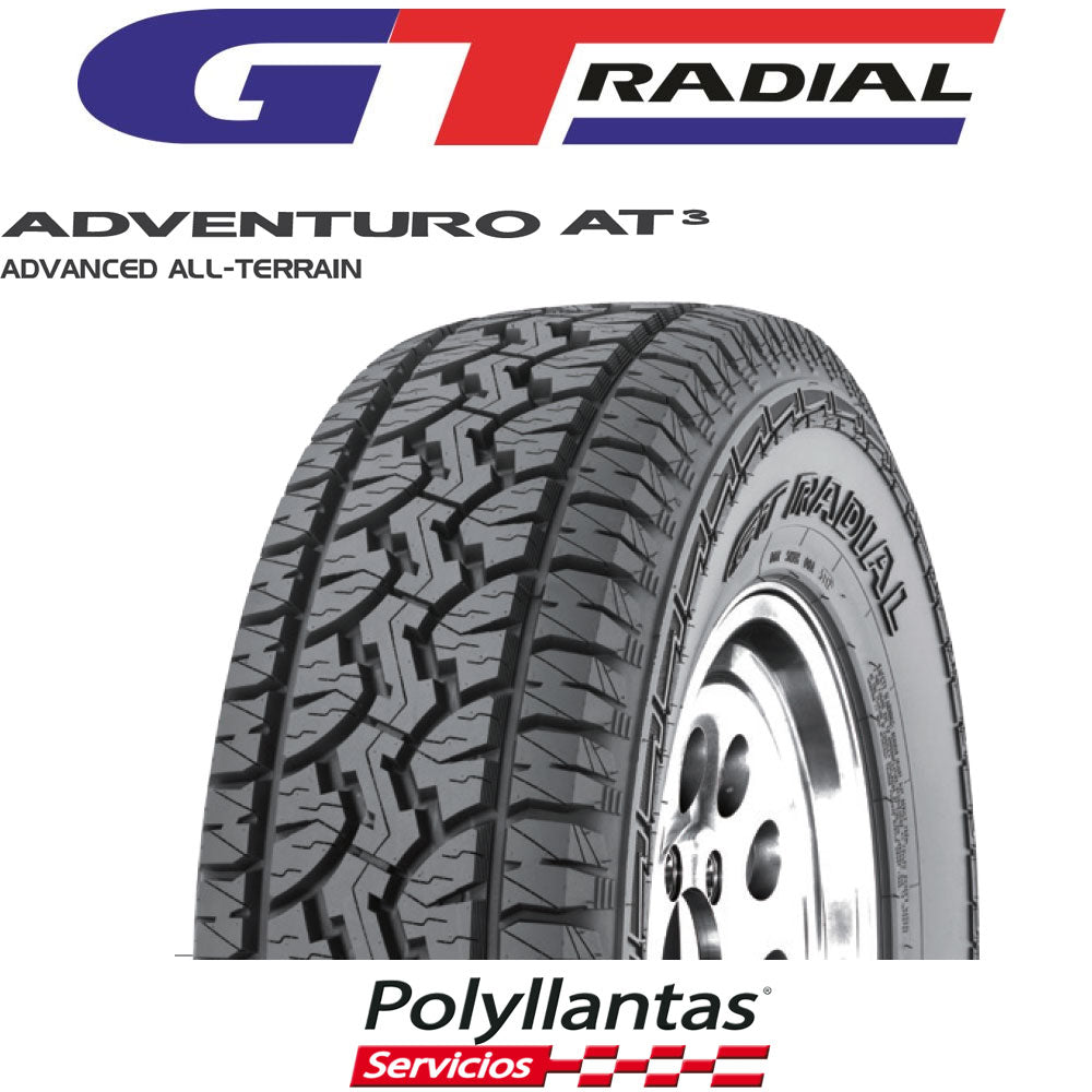 LLANTA 265-70 R17 121-118S GT RADIAL ADVENTURO AT3